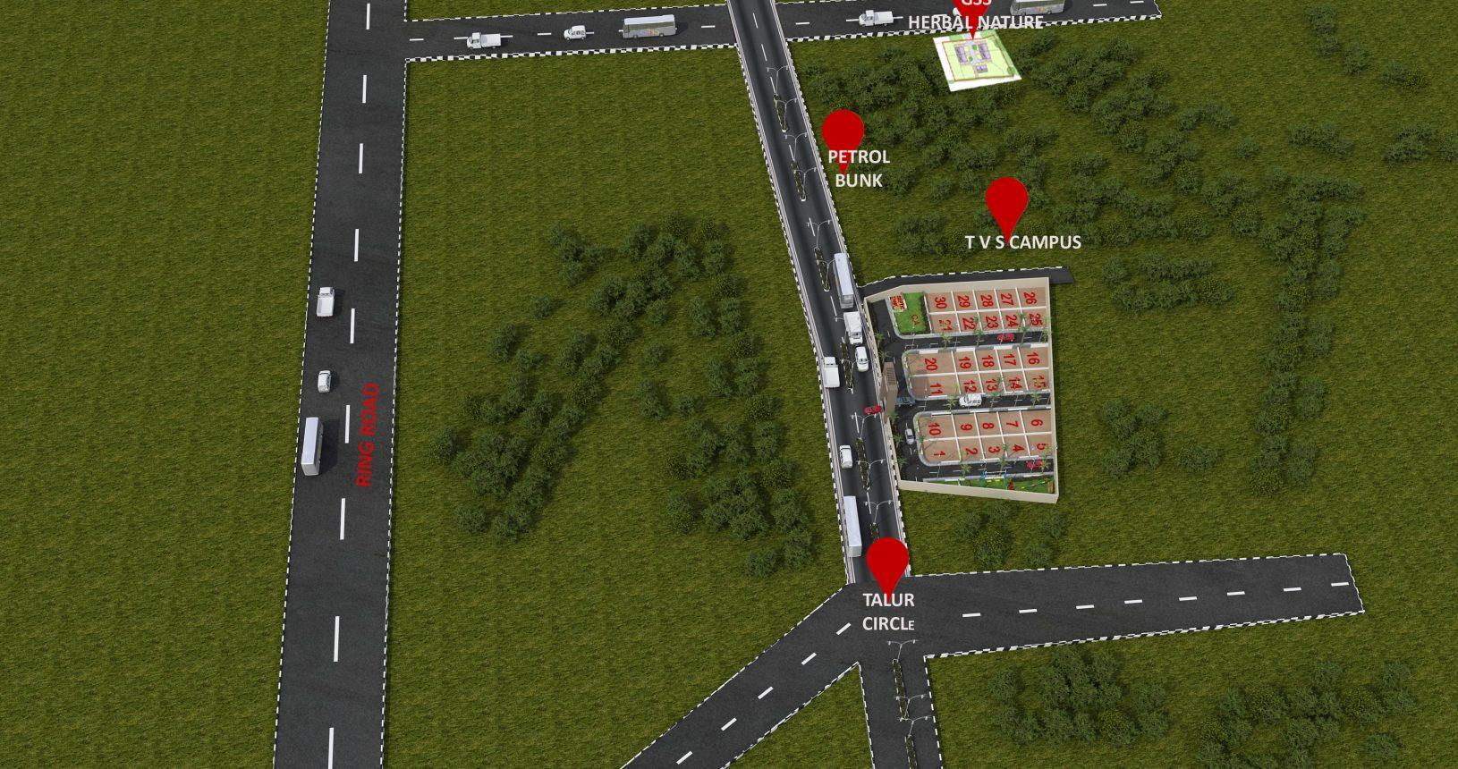 Herbal Sindhu 3D Aerial View