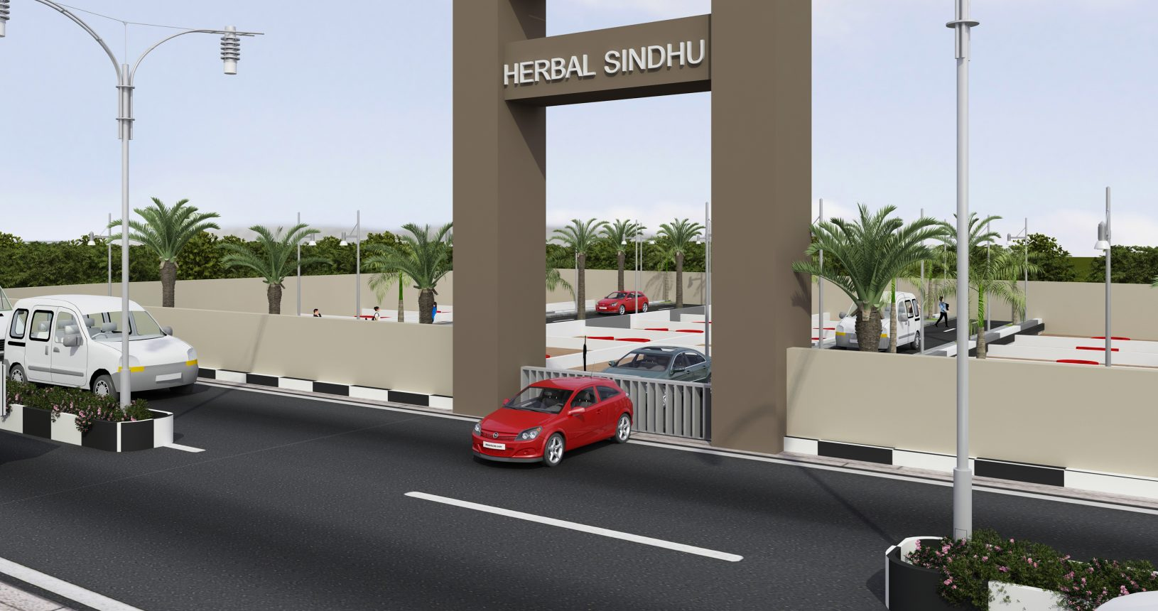 Herbal Sindhu Entrance 3D Arch