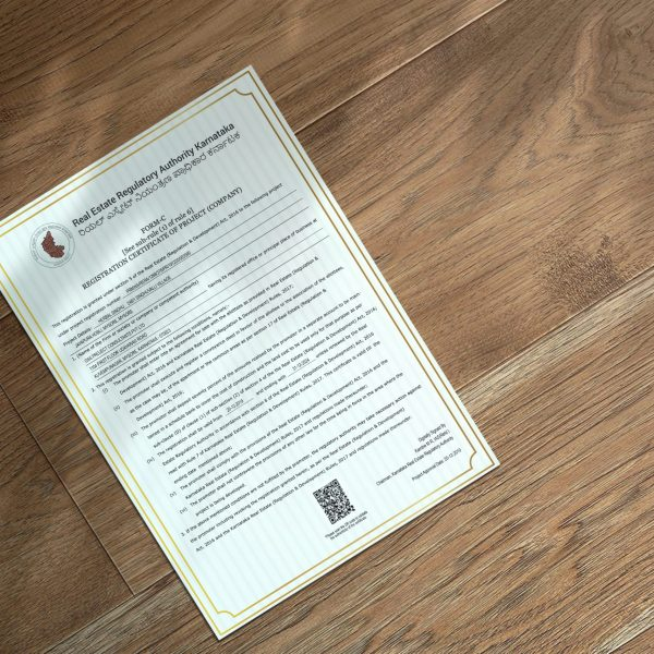 Herbal Sindhu RERA Registration Certificate