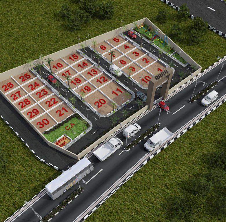 Herbal Sindhu 3D View